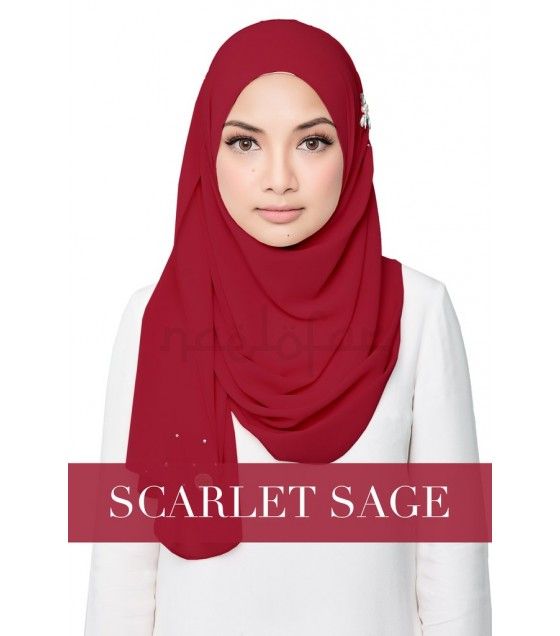 Naelofar Hijab - Darling Love (Scarlet Sage)