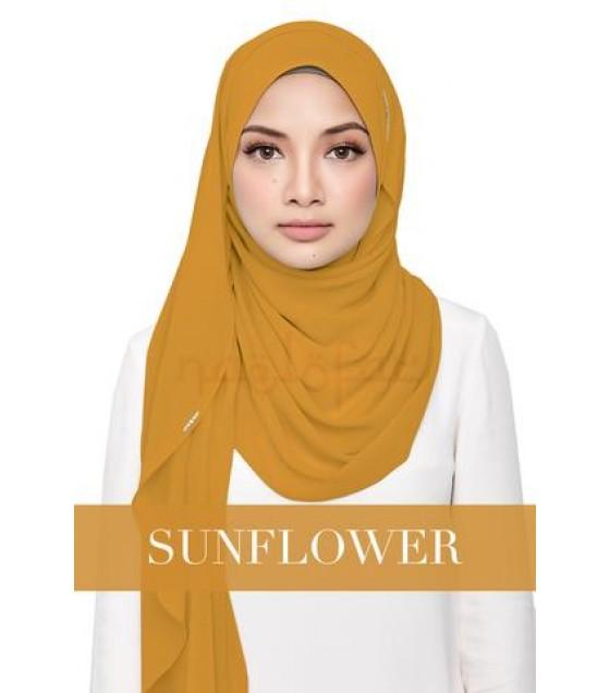 Naelofar Hijab Instant Shawl Sayang Love SUNFLOWER