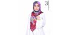 SOFEAROSE DIONA 3.0 SQUARE SCARF MOHOGANY RED Hijab