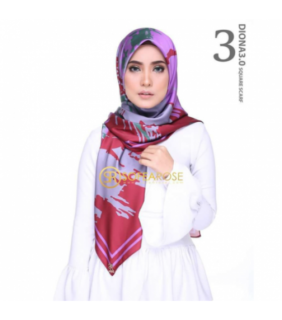 SOFEAROSE DIONA 3.0 SQUARE SCARF MOHOGANY RED Hijab