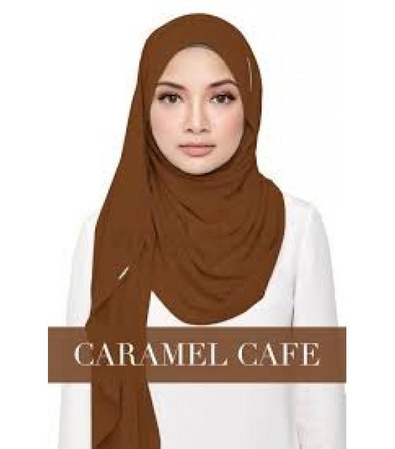 Naelofar Hijab Instant Shawl Sayang Love CARAMEL CAFE