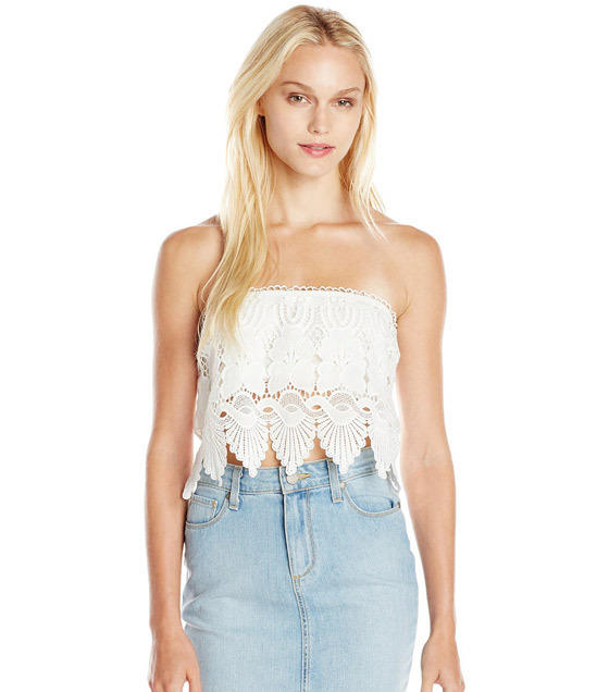 Glamorous Women's Lace Crop Top