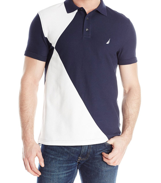 Nautica Men's Pieced Polo Shirt